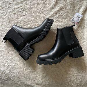 ZARA Ankle Lug Sole Boots
